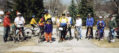 The inaugural ride of the Ganaraska Freewheelers in 2001