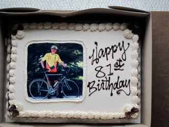 Harold's 81st - the cake